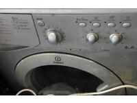 Silver INDESIT 6kg a+class washing machine £45
