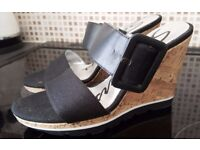 Brand New - Skechers Wedge Heel Mules - Size 6 ** NOW £5 - TO GO TODAY **