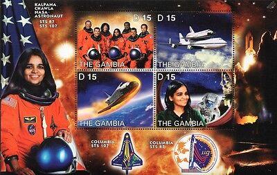 Kalpana Chawla: NASA STS-107 Space Shuttle COLUMBIA Astronaut Stamp Sheet (2003)