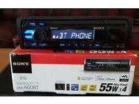 CAR HEAD UNIT SONY XPLOD A60BT MP3 PLAYER WITH BLUETOOTH AUX 4x 55 AMPLIFIER AMP STEREO RADIO BT