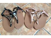 Brand New H&M Sandals 2 Pairs Size 7 (eur40)