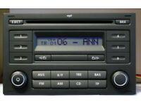 VW GOLF POLO PASSAT TRANSPORTER RADIO RCD 200 STEREO MP3+CODE