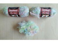 Brand New Bernat 100% Nylon Eyelash Yarn Colour: Wink - 2.5 Skeins Very Rare