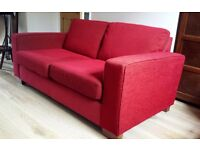 M&S Red Two-Seater Sofa