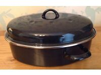 Judge 32 cm High Oval Roaster Roasting Tin with Lid NEW