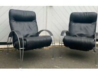 Reclining Leather Armchair by Lafer.