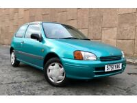 *** BARGAIN *** TOYOTA STARLET 1.3L, MANUAL, LONG MOT, GREAT DRIVE, CHEAP TO INSURE, READY TO GO