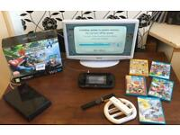 Wii U console, games and tv/DVD combo bundle