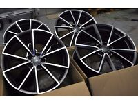 """4 BOXED + NEW 19"""" ALLOYS WHEELS FITS AUDI A4 S4 RS4 A3 S3 RS3 A5 S5 RS5 A6 S6 RS6 A7 S7 RS7 S LINE"""