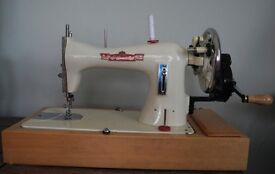 Hand operated sewing machine