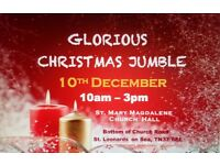 Glorious Christmas Jumble - Christmas fair and jumble sale