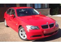 Red BMW 3 318D SE Saloon. Excellent condition