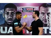 Anthony Joshua vs Wladimir Klitschko boxing tickets - amazing seats - ready to be posted - Wembley
