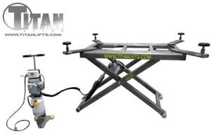 LIFT CISEAU ELEVATEUR 6600 LBS - BODY SHOP TABLE ELEVATRICE HYDRAULIQUE - TITAN LIFTS SL6600