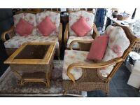 4 piece conservatory cane furniture set