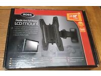 """ROSS DOUBLE ARM FULL MOTION LCD MOUNT 17-31"""" (43-80 cm) 25kg 'max Weight"""