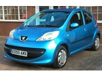 Peugeot 107 Urban, 5-door, Petrol, Blue, Great condition, Low tax & Insurance