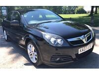VAUXHALL VECTRA, 2007 57 PLATE, 1.8 SRI, BLACK, 5 DOOR, HATCHBACK, MOT MAY 2018