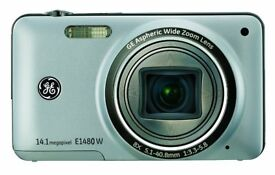 GE E1480W 14MP Digital Camera with 8X Optical Zoom and 3.0-Inch LCD with Auto Brightness (Silver)