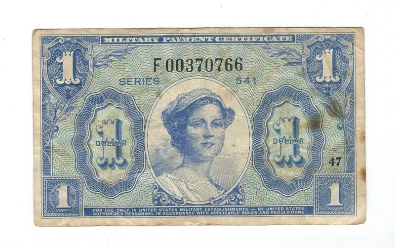 Military  Payment  Certificate - 1  Dollar  !!!REPLACEMENT!!! Series 541