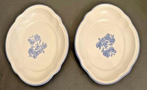 Pfaltzgraff YORKTOWNE set of 2 Scalloped Oval  Dish Trays