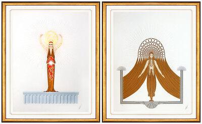 Erte The Myths Large Hand Signed Color Serigraph Costume Design Deco Artwork SBO