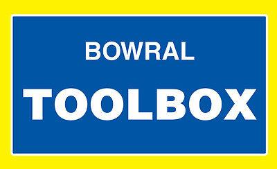 BOWRAL TOOLBOX