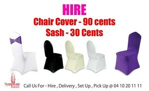 PARTY HIRE PARTY DECORATION LOWEST PRICE LYCRA CHAIR COVER Mount Druitt Blacktown Area Preview