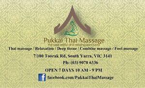 Pukkai Thai Massage / 60 mins massage $59 only till end of June South Yarra Stonnington Area Preview