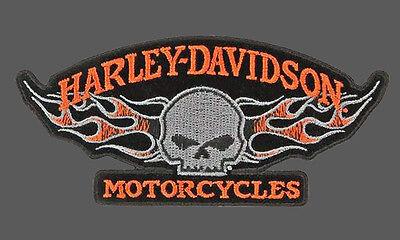 HARLEY DAVIDSON Willie G Skull Flames 5 INCH HARLEY PATCH