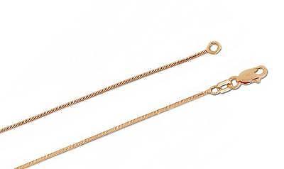 14K Rosegold Schlangen Halskette 1mm Breiter 22 Zoll mit Hummer-Kralle Schließe ()