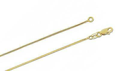 - 10K Yellow Gold Snake Chain 1mm wide Lobster Claw Clasp 16 inch Solid 10K Gold
