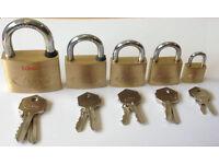 Thumb turn Padlock with 25-1000 keys Any size Euro Half Euro Rim
