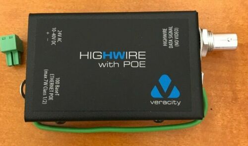 Veracity VHW-HWPO Highwire Coaxial to Ethernet Converter w/PoE *NEW*