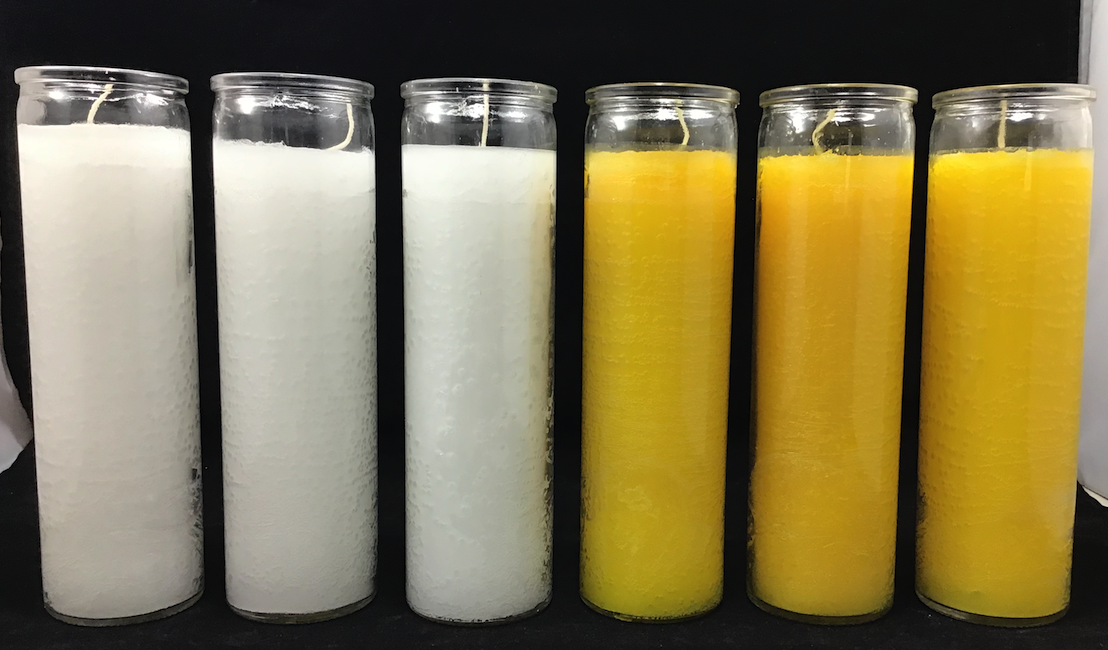 """9 Day WHITE Prayer Candles 1 Pack 7"""" Tall Pillar For Religio"""