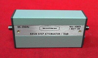 Wiltron 4412k Anritsu Programmable Attenuator Dc-20ghz 70db 24v