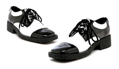 Black White Vintage 1920s Gatsby Wedding Dress Costume Shoes Mens size 11 12 13 - Mens 1920 Shoes