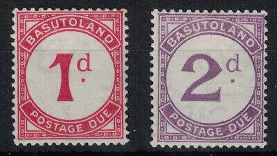 BASUTOLAND, 1933, POSTED DUES, SGD1 & D2, MOUNTED MINT.