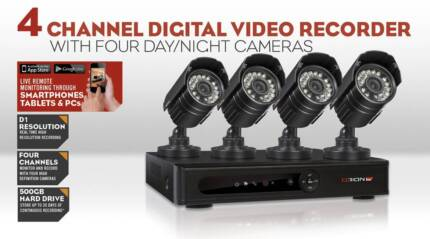 New Orion Home Security System 4 Camera Channel Digital Recorder
