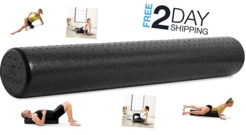 Foam Roller 36 High Density Exercise Massage Yoga Back Pain Therapy 6x36 Inches