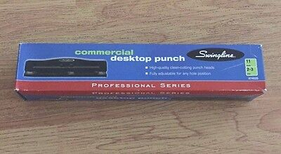 New Swingline 74020 Commercial Desktop Punch 11 Sheets 2-3 Holes