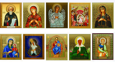 Jesus Petr Pavel Angel Icons Foil Christian Religion for Home Иконы Для Дома