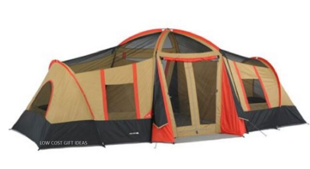 Big C&ing Tent With Rooms For Kids 20u0027 x 11u0027 Large 10 Person Family  sc 1 st  eBay & Big Tents for Camping With Rooms for Kids 20 X 11 Large 10 Person ...