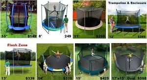 Huge Trampoline With Safety Enclosure Sale 8 Diff Sizes $149