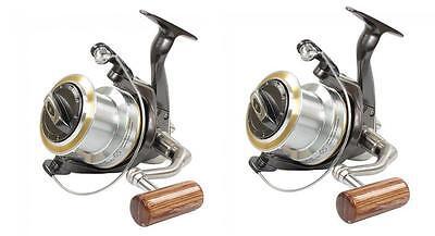 2 X Wychwood Riot 65 Big Pit Carp Reels + Spare Spools Fishing