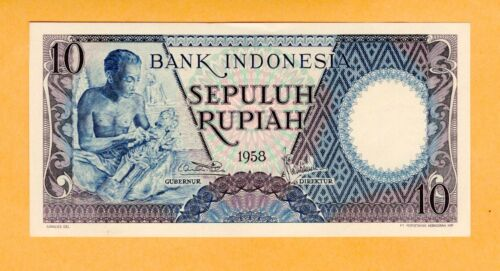 Indonesia UNC 10 Rupiah Banknote Replacement 1958 P-56*