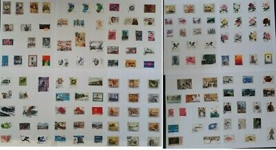 RARE c1950s- China large lot of Postage stamps Mint & Used On Pages