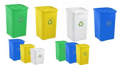 Pattumiera secchio bidone contenitore Polipropilene riciclabile spazzatura new