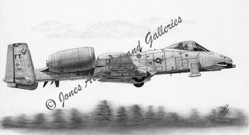 "A-10A ""Wart Hog"" Thunderbolt II Giclee & Iris Prints by artist Willie Jones Jr."