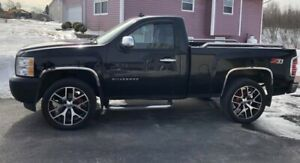 Rims and tires for sale off Chev Truck